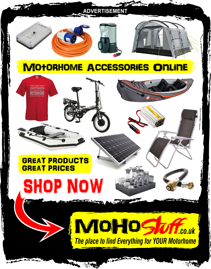 Buy your motorhome accessories from www.mohostuff.co.uk